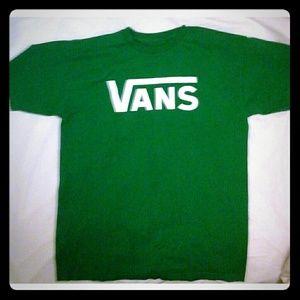 Vans green graphic tee  M
